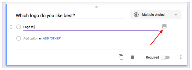 Add images to questions and answers in Google Forms