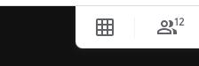 Google Meet Grid View button.